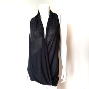 Helmut Lang Tops - Helmut Lang Black Sleeveless Deep V-Neck Blouse